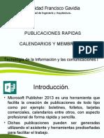 Publicaciones Rápidas en Publisher
