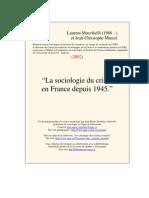 Socio Crime France 1945