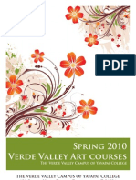 Spring Verde Valley Art Class Brochure