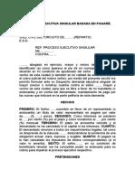 DEMANDA EJECUTIVA SINGULAR BASADA EN PAGARÉ