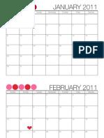 2011 Full Page Calendar - TomKat Studio