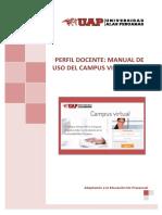 PERFIL DOCENTE - MANUAL DE USO DE CAMPUS VIRTUAL