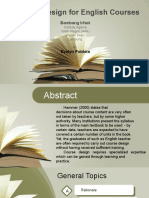English for Academic Purposes Course Design and Syllabus