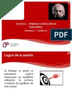 Semana 7 Sesión 1 Estatica - Primera cond. de equilibrio.pptx