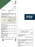 Escala de valoración -Títere de papel