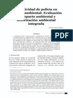 LA ACTIVIDAD DE POLICÍA EN MATERIA AMBIENTAL -  EVALUACIÓN DE IMPACTO AMBIENTAL Y AUTORIZACIÓN AMBIENTAL - GERMÁN VALENCIA - 2007