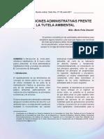 AUTORIZACIONES ADMINISTRATIVAS FRENTE A LA TUTELA AMBIENTAL - PEÑA CHACON  (2020)