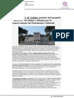 Università di Urbino partner del progetto REACH tra Italia e Albania - Vivereurbino.it, 14 maggio 2020