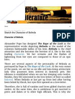 English Literature_ Sketch the Character of Belinda.pdf