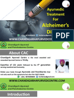 What is the Ayurvedic Treatment for Alzheimer?