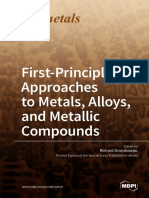 FirstPrinciples Approaches to Metals Alloys and Metallic Compounds