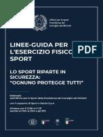 Le linee guida del Governo per esercizio fisico e sport