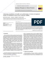 Cultivating mindfulness in health care professionals- A review of empirical  studies of mindfulness-based stress reduction (MBSR)
