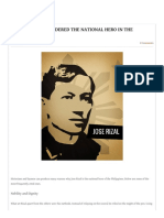 WHY IS RIZAL CONSIDERED THE NATIONAL HERO IN THE PHILIPPINES_