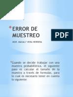 ERROR DE MUESTREO