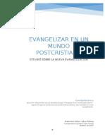 Trabajo de pastoral. Evangelizar en un mundo postcristiano