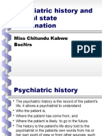 Psychiatric history and mental state examination kabwe