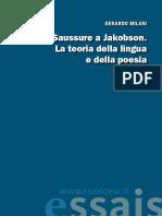 Milani, Gerardo_Da Saussure a Jakobson - La teoria della lingua e della poesia