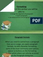 LESSON FIVE (5) Formatting (PART 2)
