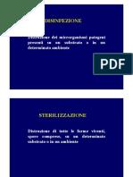 Disinfezione Sterilizzazione Disinfestazione