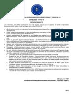 PRONUNCIAMIENTO Y MANEJO COVID-19 SPEIT 23 de marzo 2020