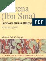 Avicena. Cuestiones Divinas. [Textos Escogidos]. 2006