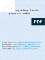 Pulmonary Delivery of Insulin by Liposomal Carriers