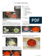 V.imprimible de Salchichas Con Salsa de Tomate