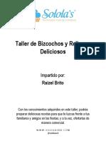 Recetario - Bizcocho y Rellenos Deliciosos