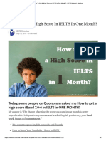 How To Get A High Score In IELTS In One Month_ - IELTS Material - Medium