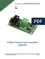 4-20mA Loop Current Transmitter XTR116U