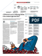 ¿Descentralización en Emergencia?