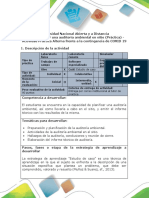 Guia de Componente práctico actividad alterna - Paso 4.  Ejecutar una auditoría ambientale en sitio (Práctica)