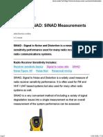 SINAD - radio receiver sensitivity