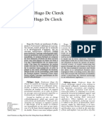 Entretien avec Hugo De Clerck