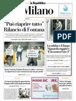 La Repubblica Milano 16 Maggio 2020