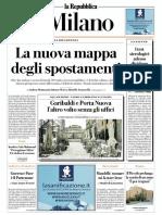 La Repubblica Milano 15 Maggio 2020