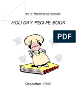 Holiday Recipes Mathematical Sciences