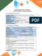 Guía de actividades y rúbrica de evaluación - Tarea 1 - Reconocimiento