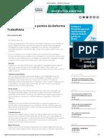 Revista Melhor - principais pontos da Reforma Trabalhista