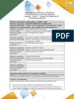 Formato respuesta - Fase 2- Campo de estudio de la antropología general