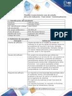 Plantilla reconocimiento caso de estudio - Anexo 1