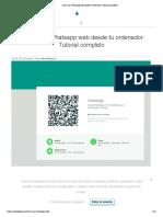Cómo usar Whatsapp web desde tu ordenador_ Tutorial completo