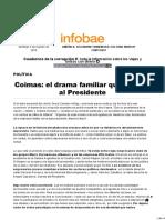 Coimas- el drama familiar que acecha al Presidente - Infobae
