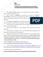 HOW TO APPLY FOR 2020 CHINESE GOVERNMENT SCHOLARSHIP UNIVERSITY PROGRAMME (CSC) BY DMAINMAN