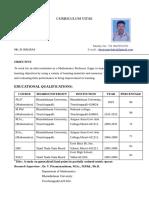 Balraj Mathematics Resume