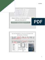 Principles of Building Measurement