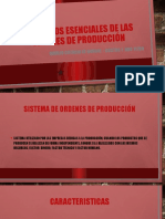 Elementos esenciales de las ordenes de producción