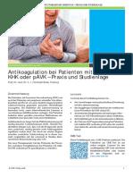 Antikoagulation bei Patienten mit stabiler KHK oder pAVK