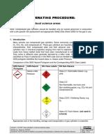 SOP Gas Cylinders in School Science Areas